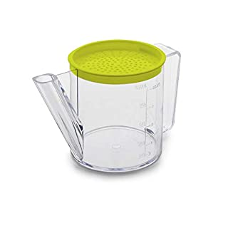 IBILI Oil Separator/Measuring jug Easycook 1l of Plastic, 20 x 13 x 13 cm, Transparent/Green