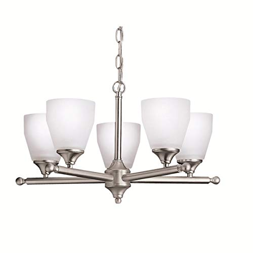 Chandeliers 5 Light Fixtures with Brushed Nickel Finish Medium Bulb Type 22