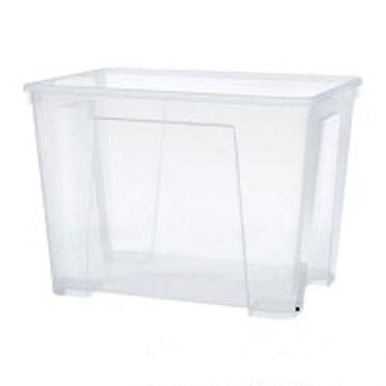 Ikea Samla Box 11 litros con Tapa Caja, plástico, Transparant, 28 x 39