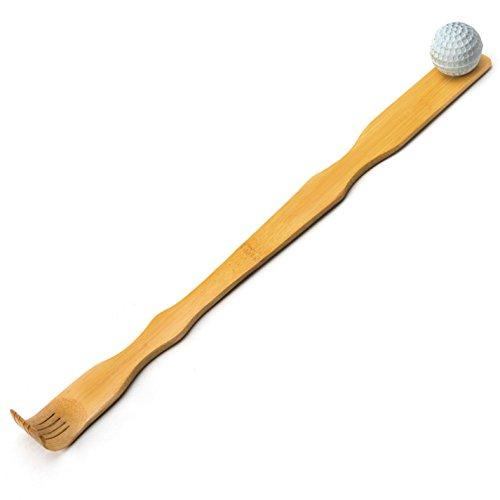 Banz-Self-Massager-Therapeutic-Bamboo-Back-Scratcher-175-inch-w-Massage-Ball