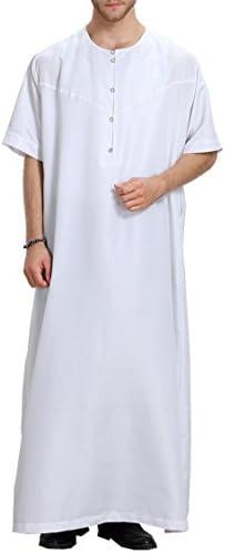 Camisa de Vestir de Manga Corta de los Hombres Vestidos de árabes Musulmanes Kaftan Dubai S-XXXL: Amazon.es: Ropa y accesorios