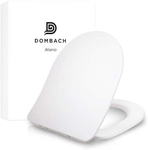 [Gesponsert]Dombach® Aliano Toilettendeckel weiß D-Form Slim-Design - der exklusive Premium WC-Sitz mit Absenkautomatik - abnehmbar - familienfreundlich antibakteriell aus Duroplast und rostfreiem Edelstahl