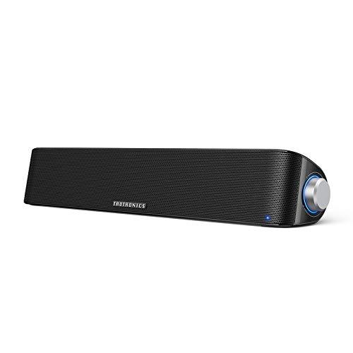 TaoTronics Computer Speaker, Bluetooth 5.0 Wireless PC Soundbar, Stereo USB Powered Sound Bar Speaker for Computer…