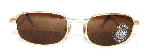 Vuarnet Men's Women's 701 Gold Metal Rectangular Sunglasses Px2000 Brown Mineral - Vuarnet Store