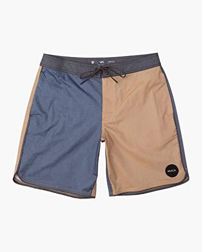 RVCA Men's South Eastern Trunk, Apple Cinnamon, 34 (Swim Shorts For Men Rvca)