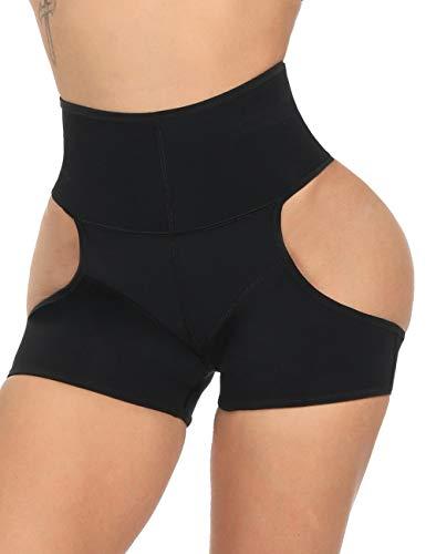 Butt Lifter Shapewear High Waist Boy Shorts Body Shaper Enhancer Panties Black L