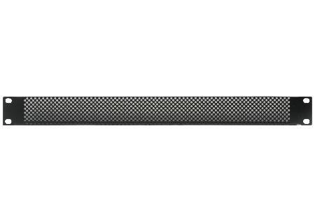 Rack Panel, 1U, Steel, Black