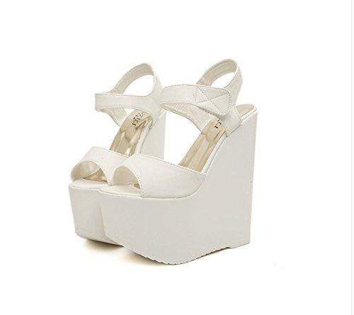 Xing Lin Sandalias De Mujer Sexy Con Tacones Altos Tacones Boca De Pescado Zapatos Cm Alto Odio Zapatos Sandalias De Cuña Con Negro white