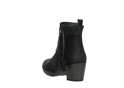 Camoscio Willmore Wolky Comfort Stivali 40001 Di Nero q1gw4