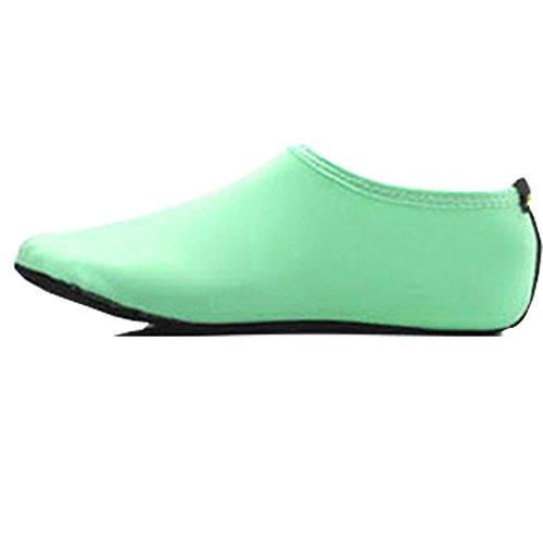 Chaussures De Peau De Leau Pieds Nus Pieds Pour Femmes Aqua Chaussettes Pour La Plage Nager Surf Yoga Exercice Sports # 0014 Vert Menthe