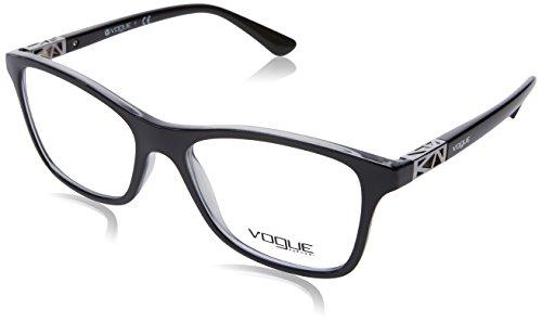 Vogue VO5028 Eyeglass Frames 2385-51 - Top Black/dk Grey Transp - Men Eyewear For Vogue
