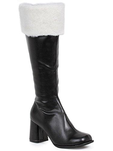Ellie Shoes Women's Gogo-Faux-Fur Boot, Black, 10 US/10 M -