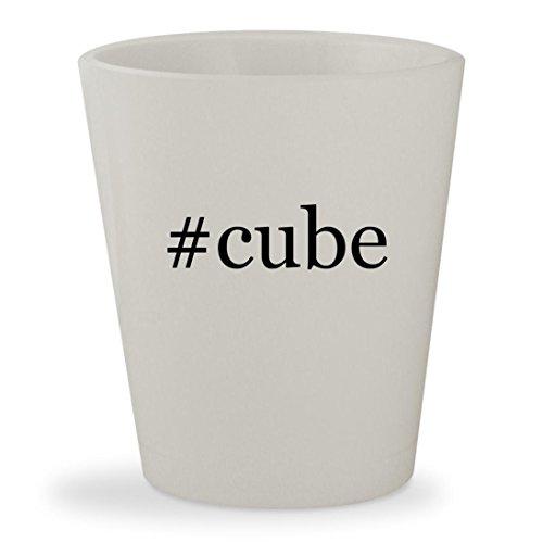 #cube - White Hashtag Ceramic 1.5oz Shot Glass