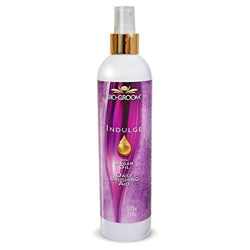 Bio-Groom Natural Indulge Daily Brushing Aid Argan Oil Dog Spray Treatment 12oz