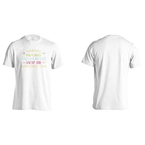 Palmen - Ozean Brise - Salzige Luft - Versunkene Haare Herren T-Shirt n648m