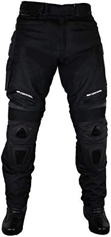 Roleff Racewear Motorradhose Textil/Mesh und Leder, Schwarz, Größe S