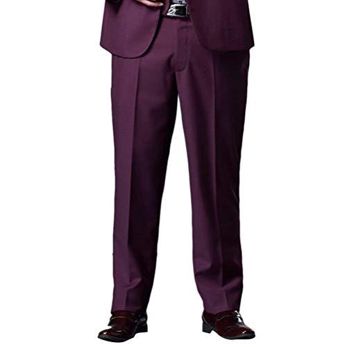 Hommes Gute Slim Avec Costume Anti Anzug Fit Droite Formelle Pantalon Poches Taille 46 Jeune Des Purple Tuyau Soirée Doux 36 Yasminey De Rides Mariage Respirant t5dAqtU