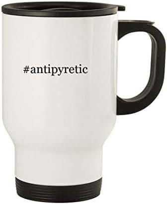 #antipyretic - 14oz Stainless Steel Travel, White