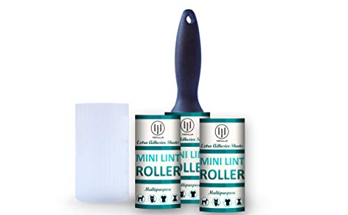 - Extreme Sticky Lint Remover - High Quality - Dry Cleaner Grade - Portable Travel Size Mini Lint Roller with 1+2 Refills and Cover