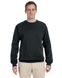 JERZEES - Crewneck Sweatshirt. 562M, LARGE, Black