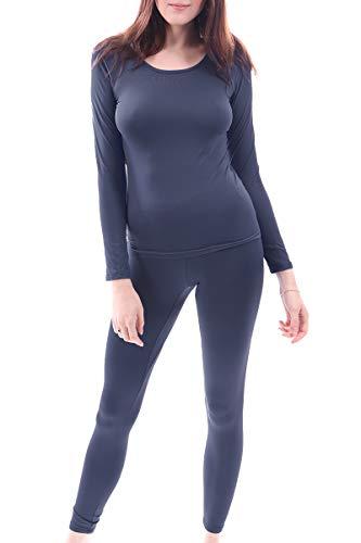 Women's Microfiber Fleece Thermal Underwear Long Johns AZ-2000-CHARCOAL-3X