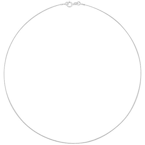 Sterling Silver Wire Cable Necklace Very Thin 0.8mm ()