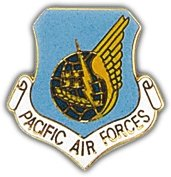 US Air Force Pacific Air Command Shield Lapel Pin
