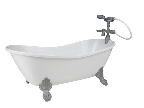 (Sophia's White Doll Bathtub by 18 Inch Doll Tub with Handshower)