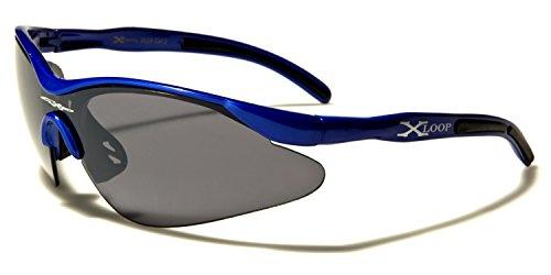 Gafas de hombre ® X Black sol Loop Black Blue ® Lens para qO0tffHwIn