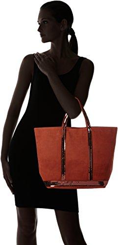Vanessa Bruno - Cabas Moyen +, Borse Tote Donna Arancione (Orange Ginger)