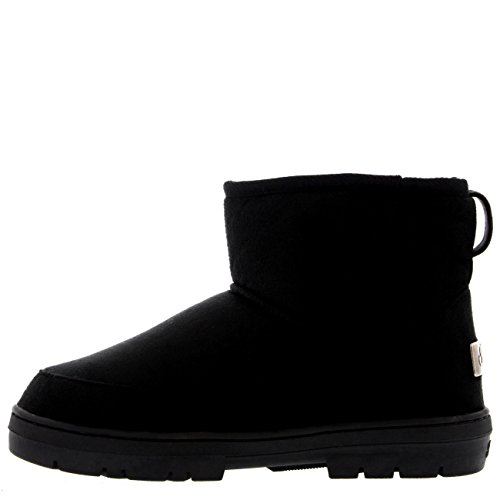 Fur Mini Lined Negro Mujer Original Rain Impermeable Nieve Classic Botas Invierno gqw1gIftn