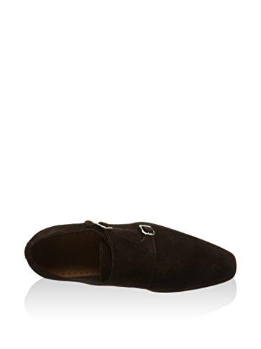 Zapatos con hebilla de ante marrón STANLEY-MARRON-102SA