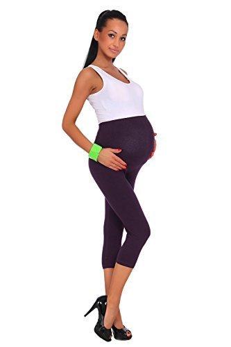 Leggings de maternidad, largo 3/4, de algodón, cómodos, todas las tallas de la marca Futuro Fashion de algodón cómodos PT-ML-MIDL