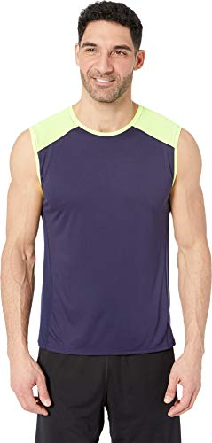 Brooks Men's Stealth Sleeveless Navy/Nightlife Medium