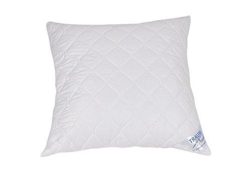 Traumnacht 03770378123 4-Star Kopfkissen, weiches und bequemes Kopfkissen aus Baumwollmischgewebe, 80 x 80 cm, waschbar, weiß