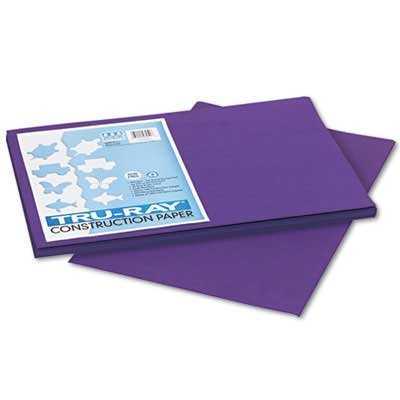 Pacon Tru-Ray Construction Paper, 76 lbs., 12 x 18, Purple, 50 Sheets/Pack