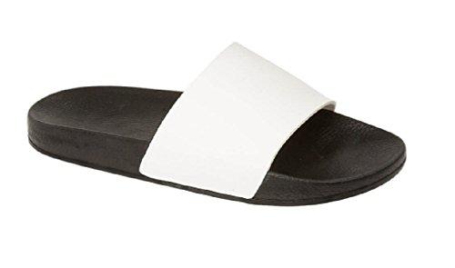 Para Material blanco GladRags® de Sintético Hombre Sandalias wHBzTUqI