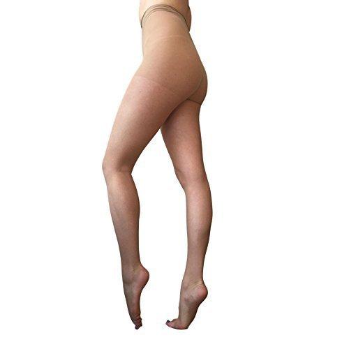 Essexee Legs 10 Denier Peep Toe Medias Sin Puntera Calcetines para Flawless piernas tamaños: S-L: Amazon.es: Ropa y accesorios
