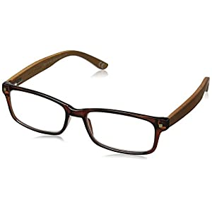 Foster Grant Men's Angus 1017560-200.COM Wayfarer Reading Glasses, Brown, 2