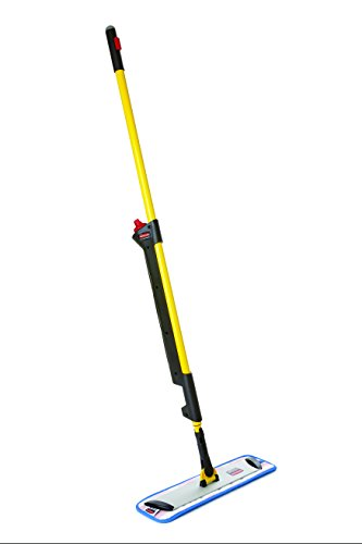 Sponge Rubbermaid Commercial - Rubbermaid Commercial 1835528 Pulse Microfiber Floor Cleaning System, Handle with Single-Sided Mop Frame,