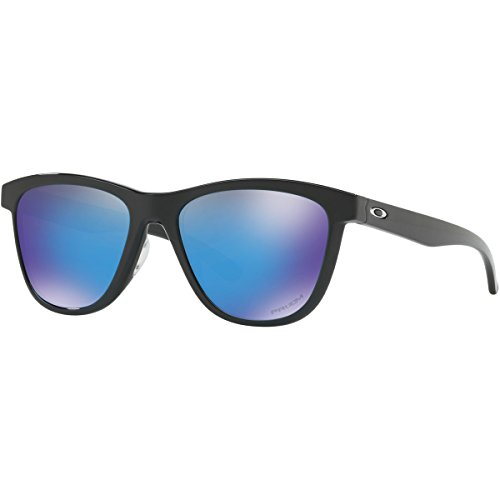 Oakley Women's Injected Woman Round Sunglasses, Polished Black, 53 - Retro Sunglasses Oakley