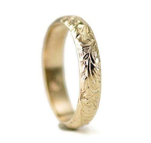 42bbf86db Amazon Com 14k Gold Wedding Ring Vintage Design Ring For Her