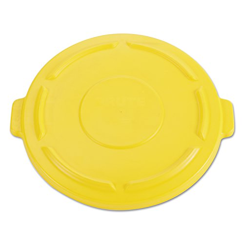 (Rubbermaid Commercial FG264560YEL BRUTE Heavy-Duty Round Waste/Utility Container, 44-gallon Lid, Yellow)
