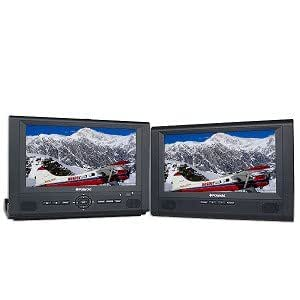 """8"""" Polaroid DPA-08055S Widescreen Portable DVD Player w/Additional LCD Screen & 15-in-1 Game Pad (Black)"""