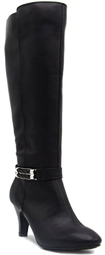 Image of Rampage Womens Indy Dress Boot with Heel and Woven Wraparound Ornament