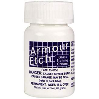 Armour Etching Cream For Glass and Mirrors Is Safe and Easy To Use.(Pkg/3) by Armour Etch