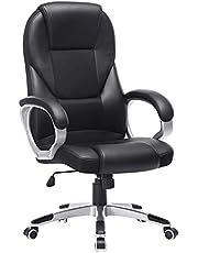 Songmics OBG22B Bureaustoel, bekleding zwart