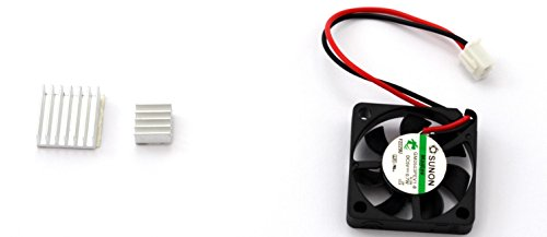 Stratux 30mm x 30mm x 7mm Fan and Heat Sink for Raspberry Pi 3