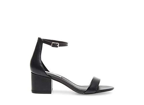Steve Madden Women's Irenee Black Leather Sandal 6.5 US (Steve Madden Sandals)