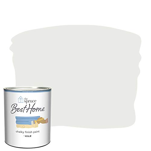 The Spruce Best Home by KILZ 15104 Chalky Finish Paint, 1 Quart, SPR-C13 White Bead Board